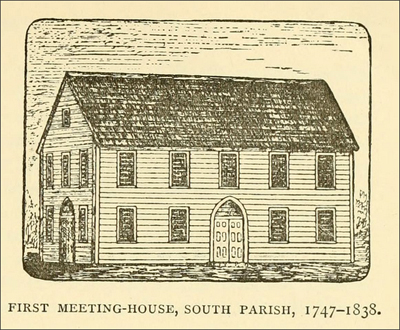 First meeting house of the Ipswich South Parish