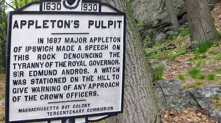 Appleton's Pulpit Massachusetts Bay Colony Tercentenary Commission