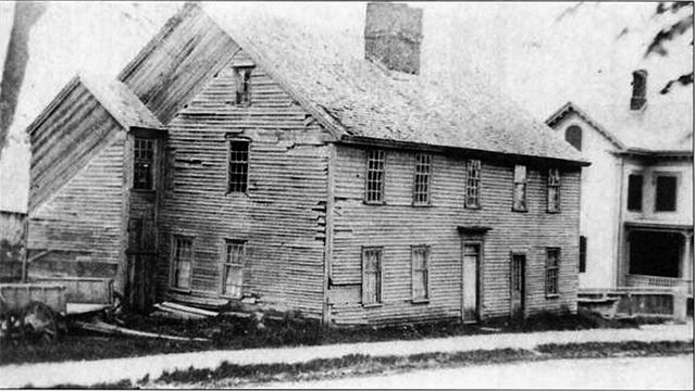 Westward migration increased after the winter of 1816, and the population of Ipswich declined. Those who stayed had little money to maintain their homes, and no reason to build new ones, which is, ironically, the reason Ipswich has more surviving First Period houses than any other town in America! This is the William Caldwell House on High Street, 1879, later torn down.