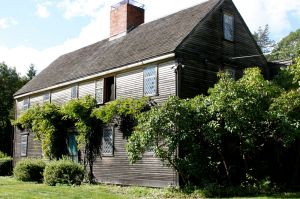 The Isaac Goodale house, built in 1668, was moved to this location at 153 Argilla Road