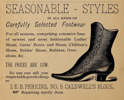 Perkins shoe advertisement