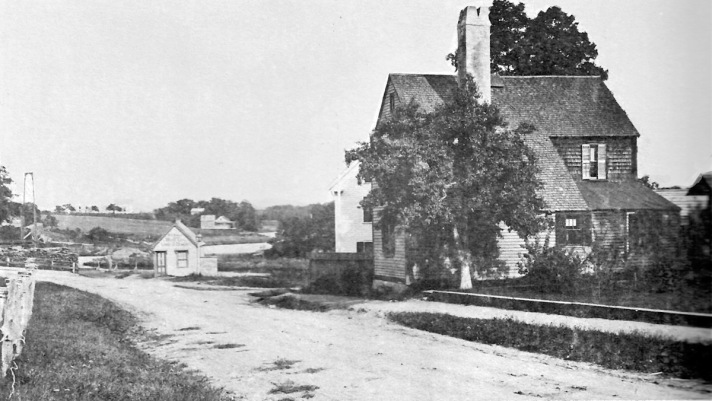 A Few Years Later -- this photo of the town Wharf and East Street area was taken sometime between 1905 and 1910. The Morris House, built in 1723, is on the right. It was taken down in 1959.