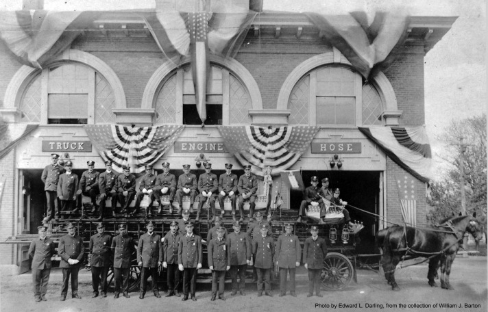 Dedication of the new fire station, 1908.