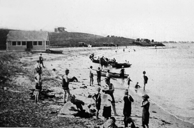 View of Great Neck from Pavilion Beach early in the 20th Century