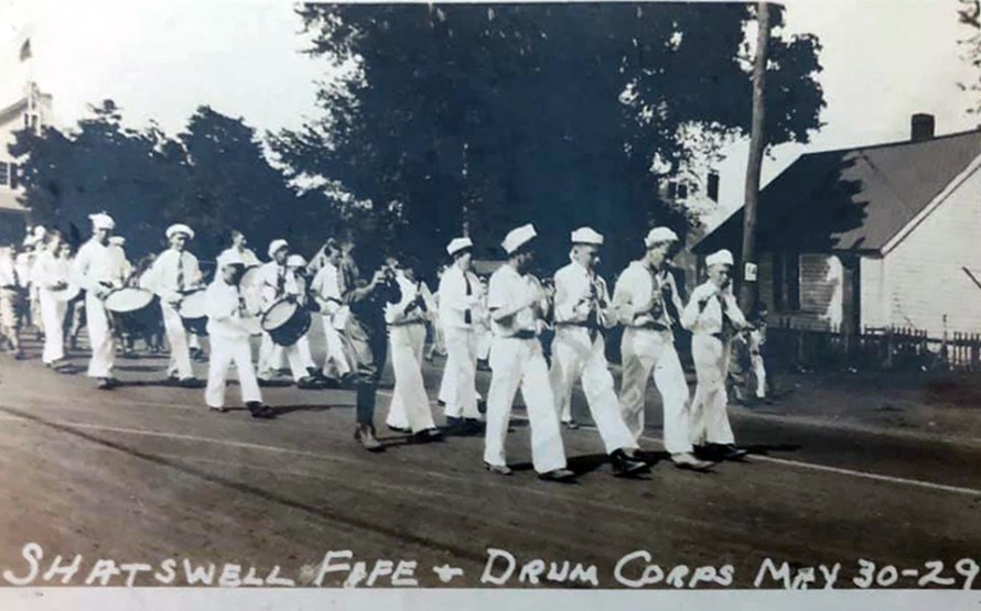 Shatswell drum and fife corps, Ipswich MA, 1929