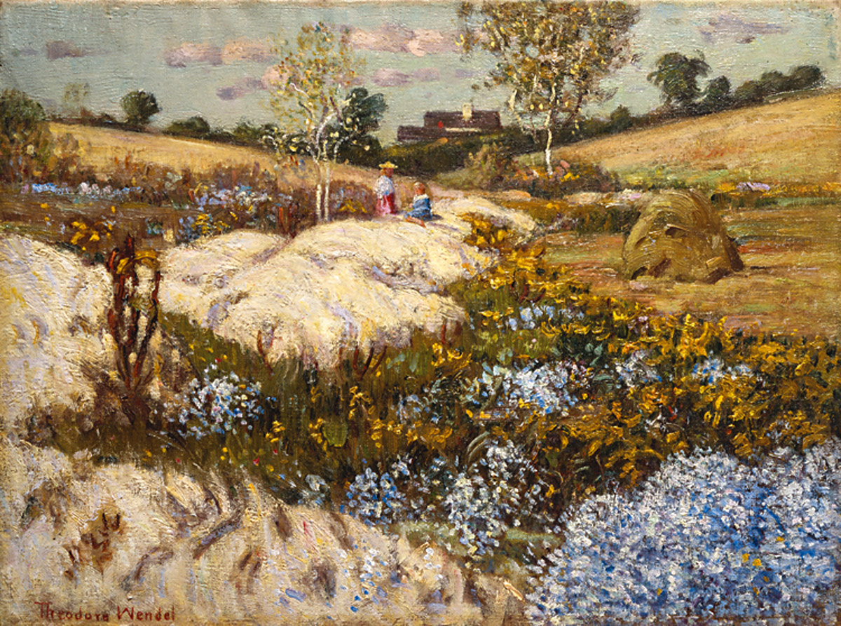 Asters and Goldenrod by Theodore Wendel
