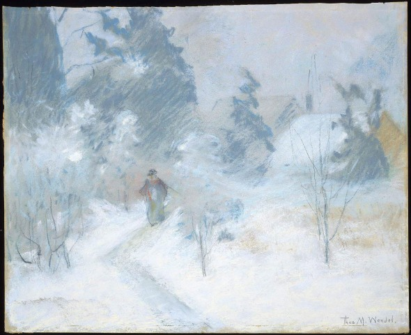 """Snow Scene"" by Theodore Wendel"
