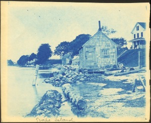 Clam shack 81 Grape Island cyanotype by Arthur Wesley Dow