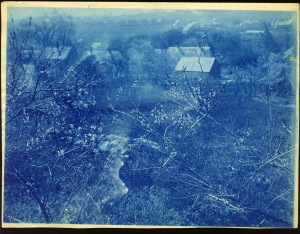 The village cyanotype by Arthur Wesley Dow
