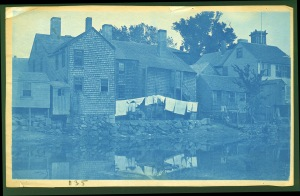 Little Venice laundry cyanotype by Arthur Wesley Dow