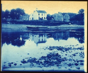 Ipswich River at Low tide cyanotype by Arthur Wesley Dow