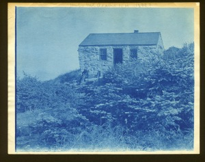Hut on Mount Adams NHcyanotype by Arthur Wesley Dow