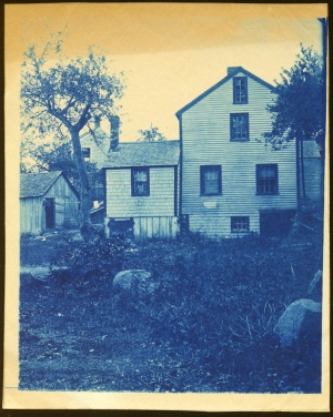 Back of Dow house cyanotype by Arthur Wesley Dow
