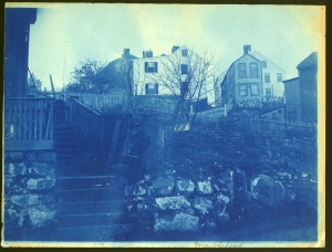 town cyanotype by Arthur Wesley Dow