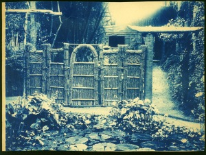 Straw gate cyanotype by Arthur Wesley Dow