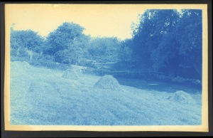 hay field cyanotype by Arthur Wesley Dow