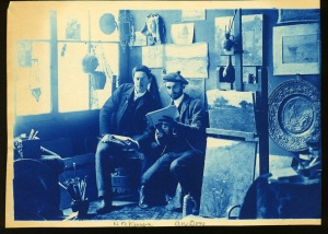 Dow and Hubbard cyanotype by Arthur Wesley Dow