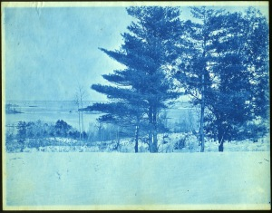 snow and ocean cyanotype by Arthur Wesley Dow