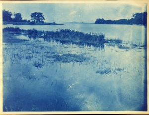 Tide coming in cyanotype by Arthur Wesley Dow