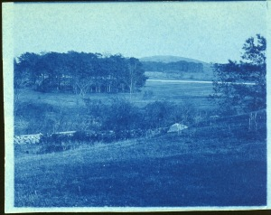 Hill in the distance cyanotype by Arthur Wesley Dow