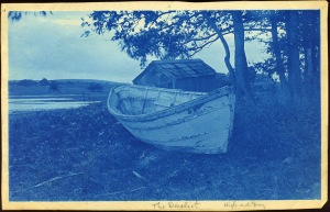 The Derelict boat High and Dry cyanotype by Arthur Wesley Dow