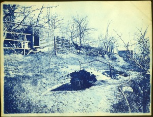 small arch bridge cyanotype by Arthur Wesley Dow