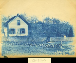 Dow's house cyanotype by Arthur Wesley Dow