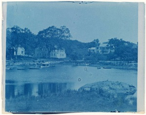 Billy Lord's house cyanotype by Arthur Wesley Dow