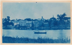 View from Turkey Shore cyanotype by Arthur Wesley Dow