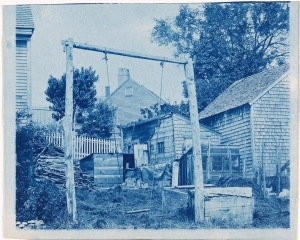 Back yard swing cyanotype by Arthur Wesley Dow