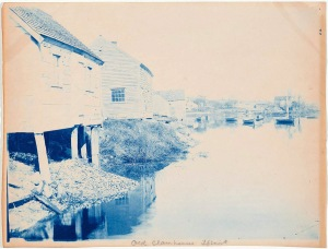 Old clam houses in Ipswich cyanotype by Arthur Wesley Dow
