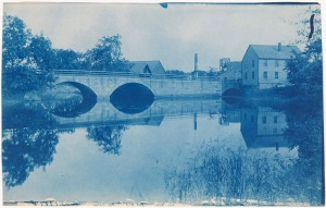 County St. Bridge cyanotype by Arthur Wesley Dow
