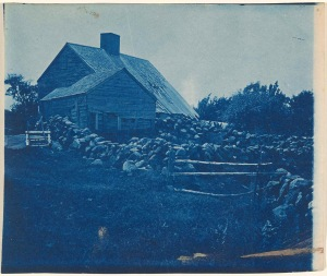 Daniel Hovey's house cyanotype by Arthur Wesley Dow