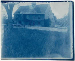 First Period house cyanotype by Arthur Wesley Dow