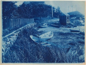 Glovers Wharf cyanotype by Arthur Wesley Dow