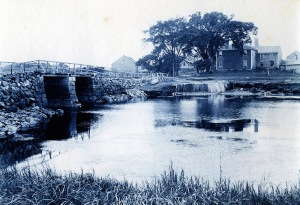 Goulds Bridge cyanotype by Arthur Wesley Dow