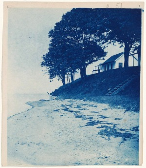 Grape Island house cyanotype by Arthur Wesley Dow