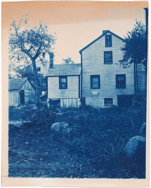 House and yard cyanotype by Arthur Wesley Dow