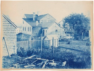 Back yard cyanotype by Arthur Wesley Dow