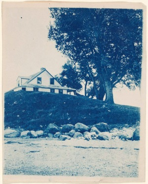 House on Grape Island cyanotype by Arthur Wesley Dow
