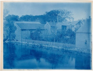 View from Choate Bridge cyanotype by Arthur Wesley Dow
