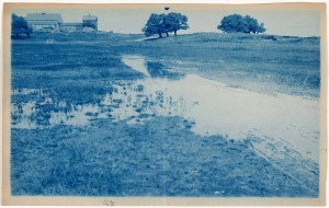 Marsh barn cyanotype by Arthur Wesley Dow
