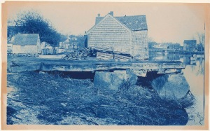 Barn on the Ipswich River cyanotype by Arthur Wesley Dow