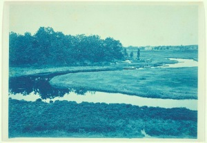 Essex River cyanotype by Arthur Wesley Dow