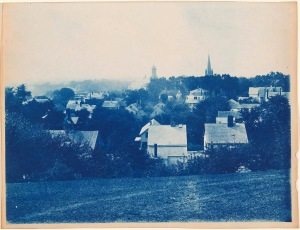 Ipswich steeple views cyanotype by Arthur Wesley Dow
