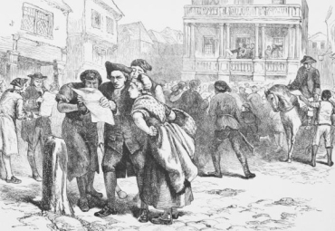 Reading the Stamp Act in Boston