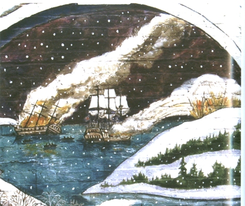 British ships fired at Castle Hill and Plum Island