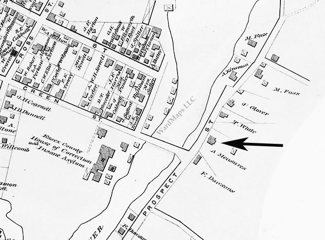 1884 map Ipswich Turkey Shore Rd.