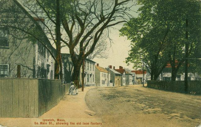 The view heading up South Main Street from the South Green in 1910