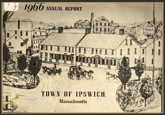 Cover of the 1966 Town Report